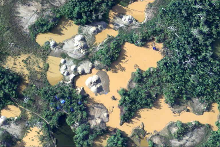 Madre de Dios, la región más afectada por la minería ilegal, tiene entre sus candidatos a segunda vuelta electoral al propietario de concesiones mineras. Foto: CEVAN – Fuerza Aérea del Perú