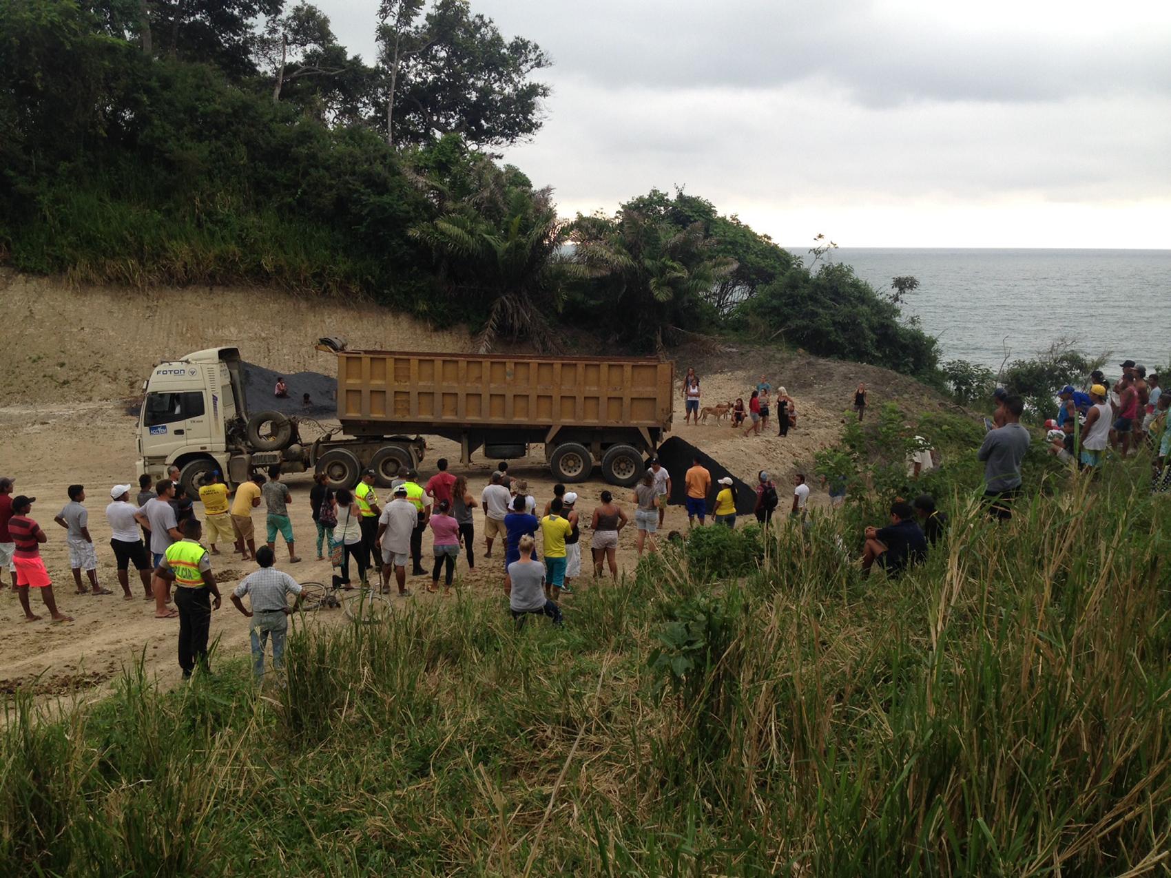 Playa Negra de Mompiche está en la zona de amortiguamiento de la Reserva Marina Galera-San Francisco, que se ubica cerca a la frontera con Colombia. Foto: Comuna de Mompiche.