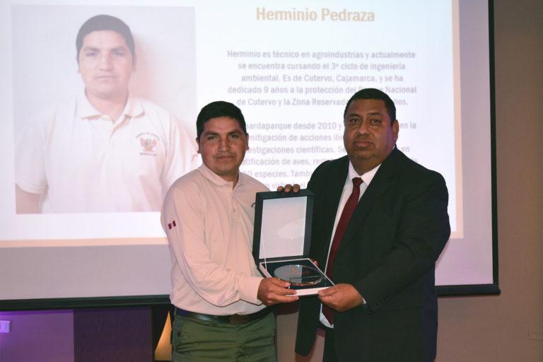 Herminio Pedraza fue elegido Guardaparque destacado por su trabajo en el Parque Nacional Cutervo. Foto: Profonanpe.