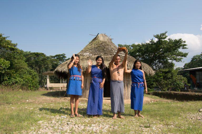 Comunidad Shuar del alto Nangaritza. Foto: Carlos Medina.