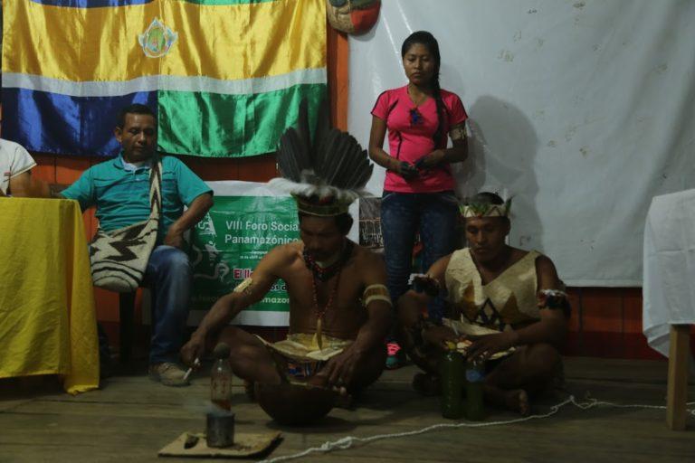 Pueblos indígenas amazónicos en un foro panamericano. Foto: ONIC.