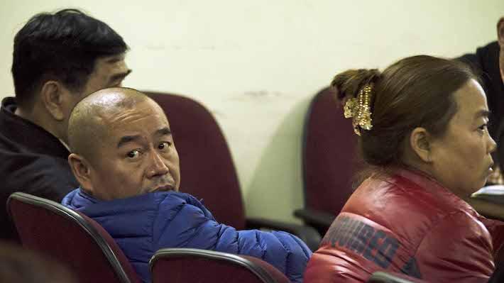 Li Ming y Yin Lan durante su juicio oral en el Palacio de Justicia de Santa Cruz de la Sierra. Foto: Eduardo Franco Berton.