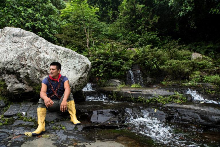Las aguas cristalinas del Aguarico pudieron contaminarse con cianuro. Foto: Jerónimo Zuñiga/Amazon Frontlines.