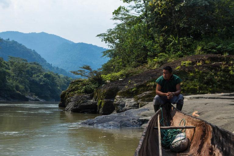 El río Aguarico hace parte de la espiritualidad de los Cofán de Sinangoe. Foto: Jerónimo Zuñiga/Amazon Frontlines.