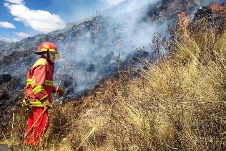 Incendio en Cusco, Perú. Foto: Agencia Andina.
