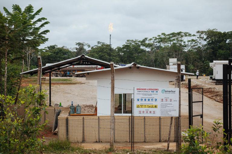Centro de operaciones de la empresa Amerisur en Putumayo. Foto: Amazon Frontlines.