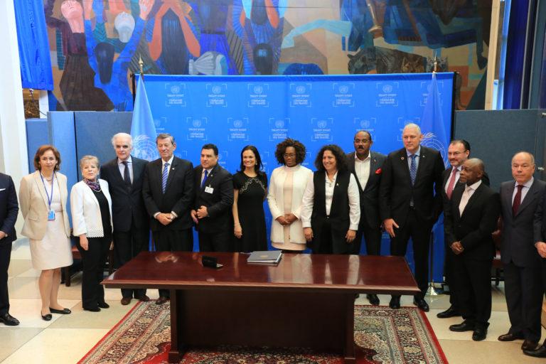 En setiembre de 2018, quince países de Latinoamérica firmaron el Acuerdo de Escazú. Foto: CEPAL.