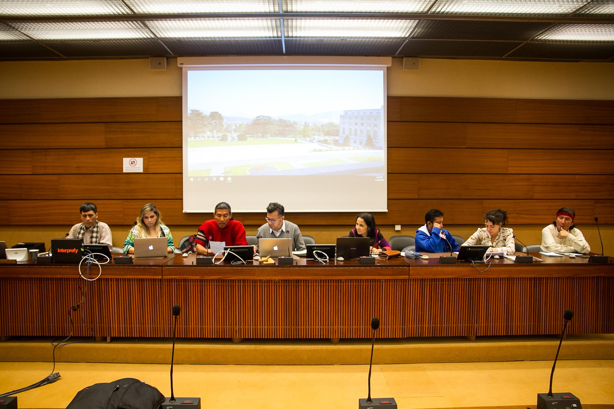 En Octubre de este año, organizaciones de la sociedad civil se presentaron ante la ONU para denunciar comportamiento de empresa chinas en América Latina. Foto: HIperactiva Comunicaciones.
