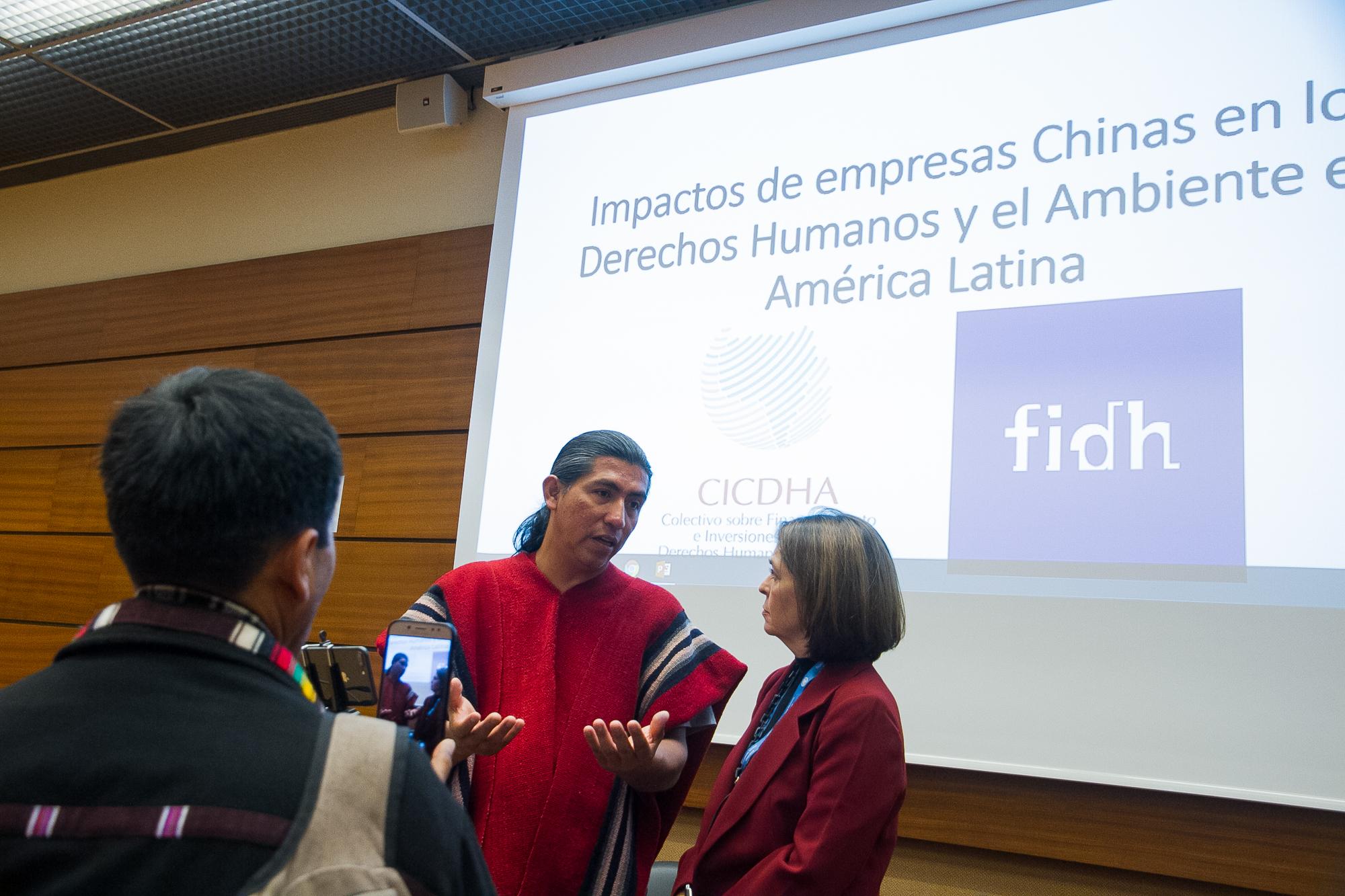 Delegaciones de países LAtinoamericanos presentaron informe en la NAciones Unidas sobre los impactos de las empresas chinas. Foto: Hiperactiva Comunicaciones.