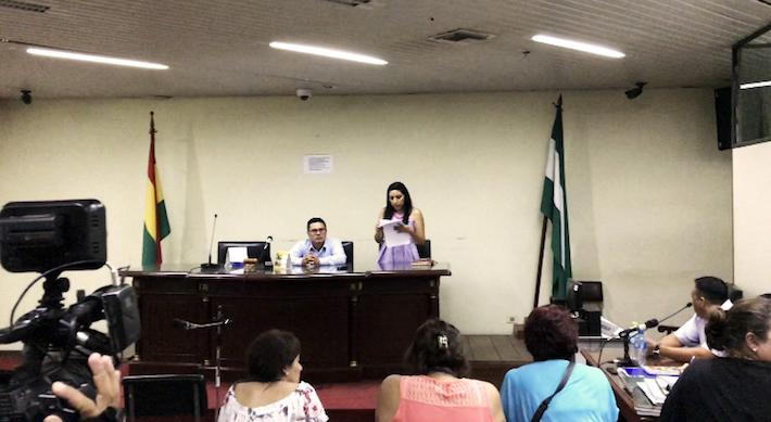 Momentos en los que se da lectura a la sentencia que condenó a Li Ming y Yin Lan. Foto: Eduardo Franco Berton.