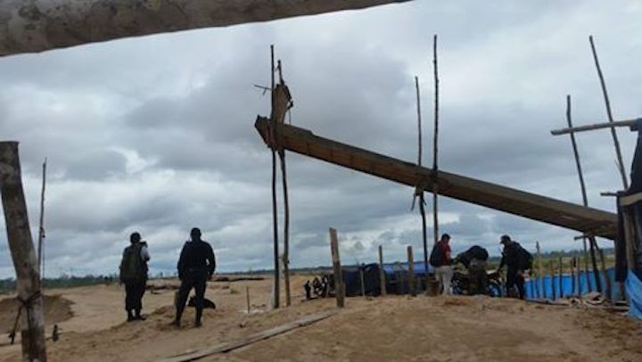 Un operativo se realizó en La Pampa. Foto: Fiscalía de Madre de Dios.