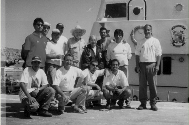 Expedición en Paita, Perú, 1996. Foto: Archivo Obla Paliza.