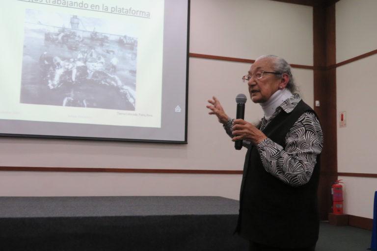 Obla Paliza durante su ponencia en el SOlamac 2018. Foto: yvette Sierra Praeli.