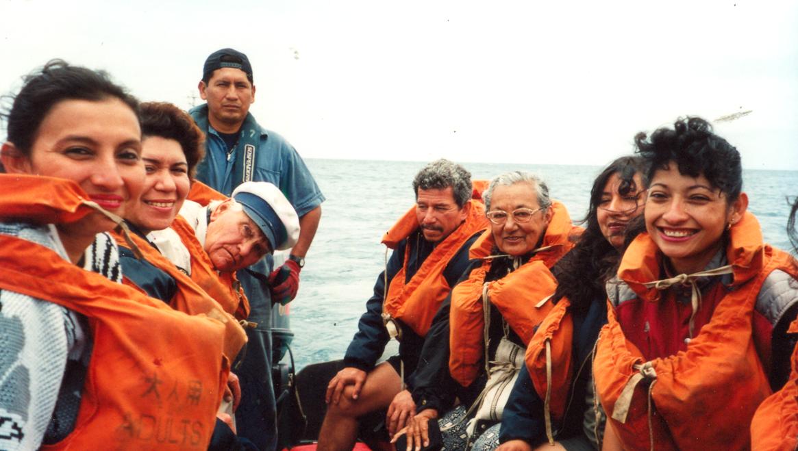 Expedición en Galápagos en el año 2001. Foto: Archivo Obla Paliza.