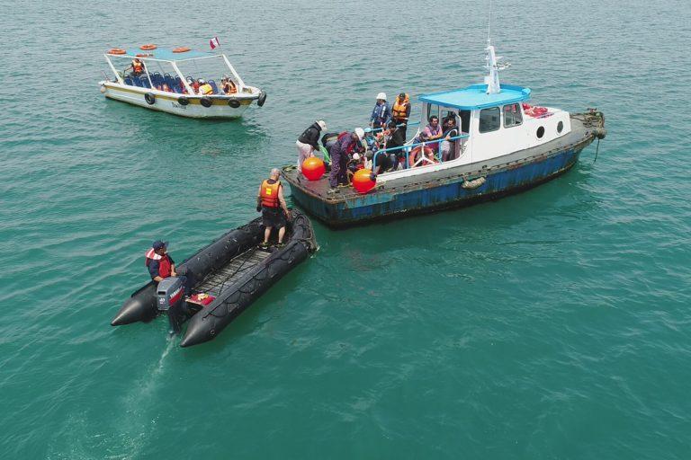 Simulación de rescate. Foto: IMARPE