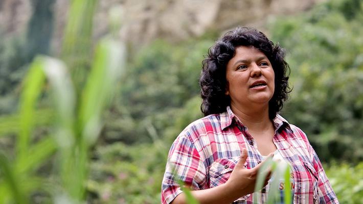 Berta Cáceres. Foto: Cortesía de Goldman Environmental Prize.