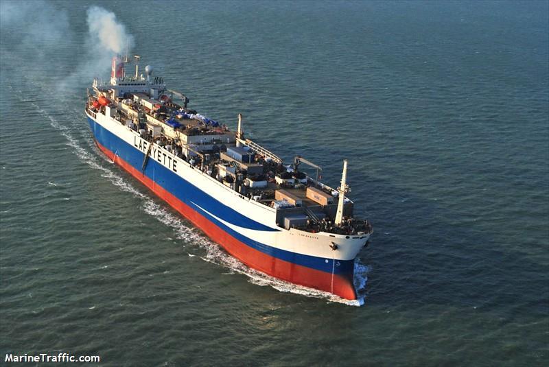 Según la denuncia, Panamá, Islas Cook y China, todos miembros de la Organización Regional de Ordenación Pesquera del Pacífico Sur (OROP-PS), habrían prestado asistencia al buque pirata Damanzaihao en su ruta hacia China. Foto: MarineTraffic