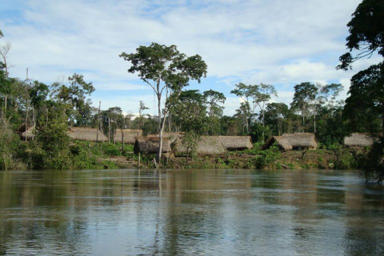 Viviendas del pueblo indígena Yanomami en Venezuela. Foto: Grupo de Trabajo Socioambiental de la Amazonía Wataniba.
