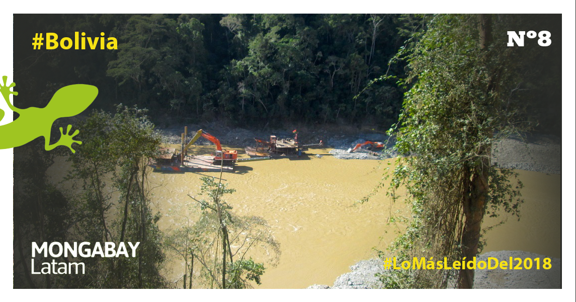 Las dragas han proliferado en el río Kaká. Foto: Iván Paredes – El Deber.