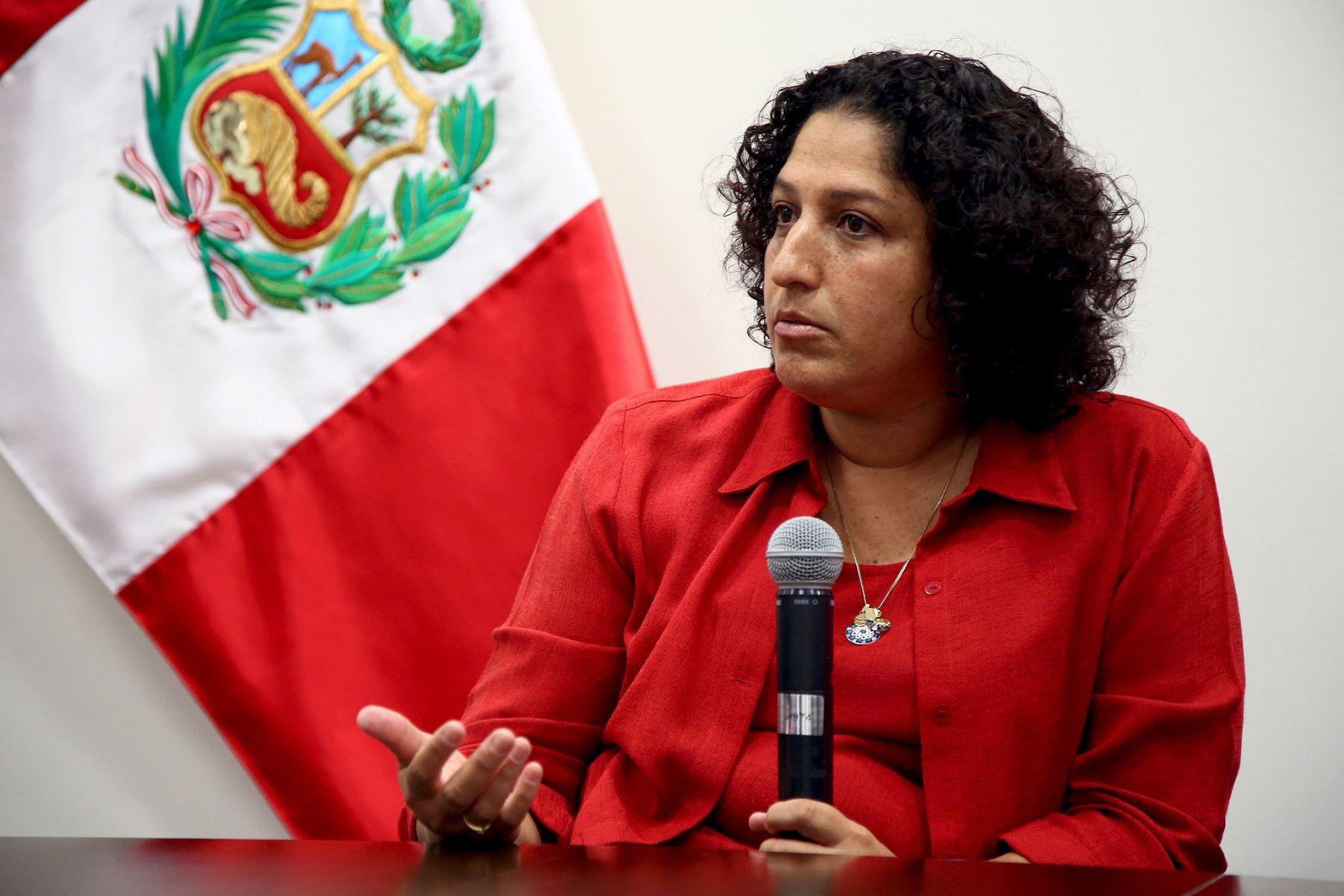 La ministra Fabiola Muñoz asumió la cartera del Ambiente en abril de 2018. Foto: Agencia Andina.