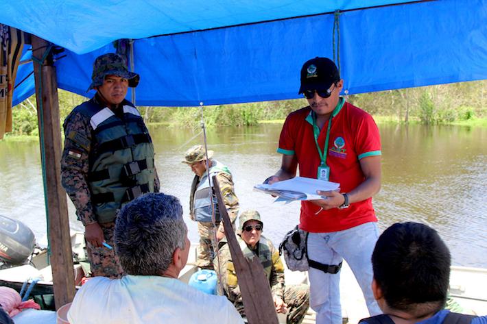 Acciones de control en el río Yapacani ejecutadas por autoridades del ABT y el ejército. Foto: ABT.