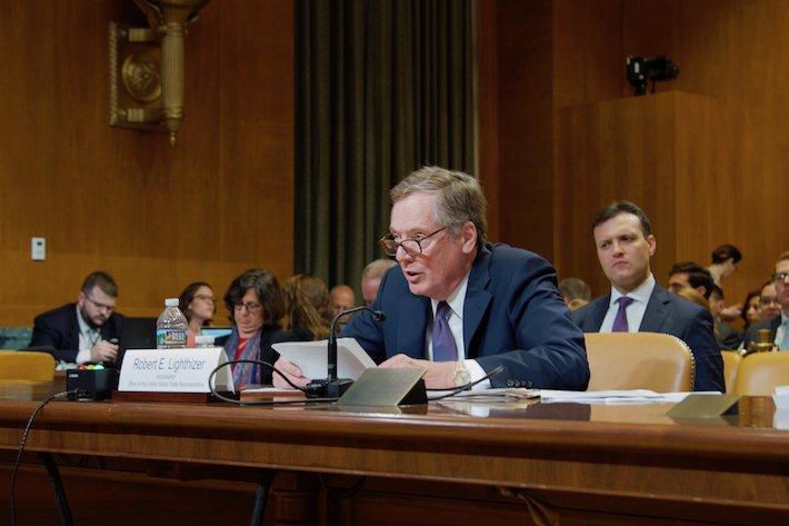 Robert Lighthizer es el representante comercial de EE.UU y uno de los consejeros más cercanos del presidente Donald Trump. Foto: USTR.