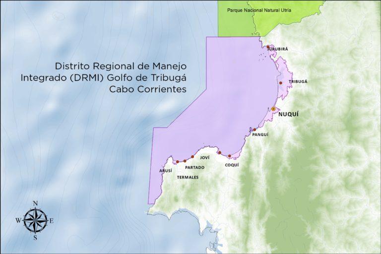 Mapa del DRMI. Imagen: Codechocó.