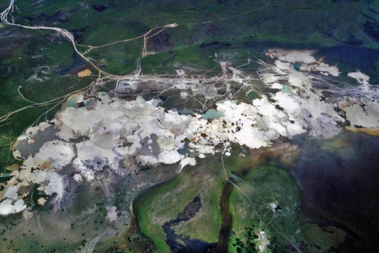 Minas Gran Sabana en el Parque Nacional Canaima. Pemon Estado de Bolivar, Venezuela