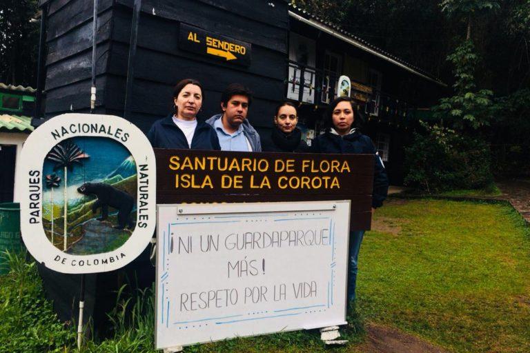 En 2018 se presentaron 17 denuncias por amenazas contra funcionarios de Parques Nacionales Naturales de Colombia. Foto: Parques Nacionales.