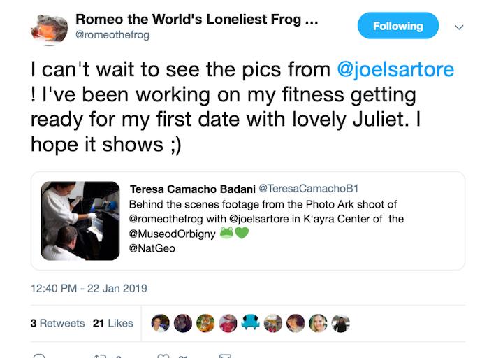 """En su cuenta en Twitter, Romeo le cuenta a sus seguidores que se está preparando para su """"primera cita con la encantadora Julieta. Espero que aparezca""""."""