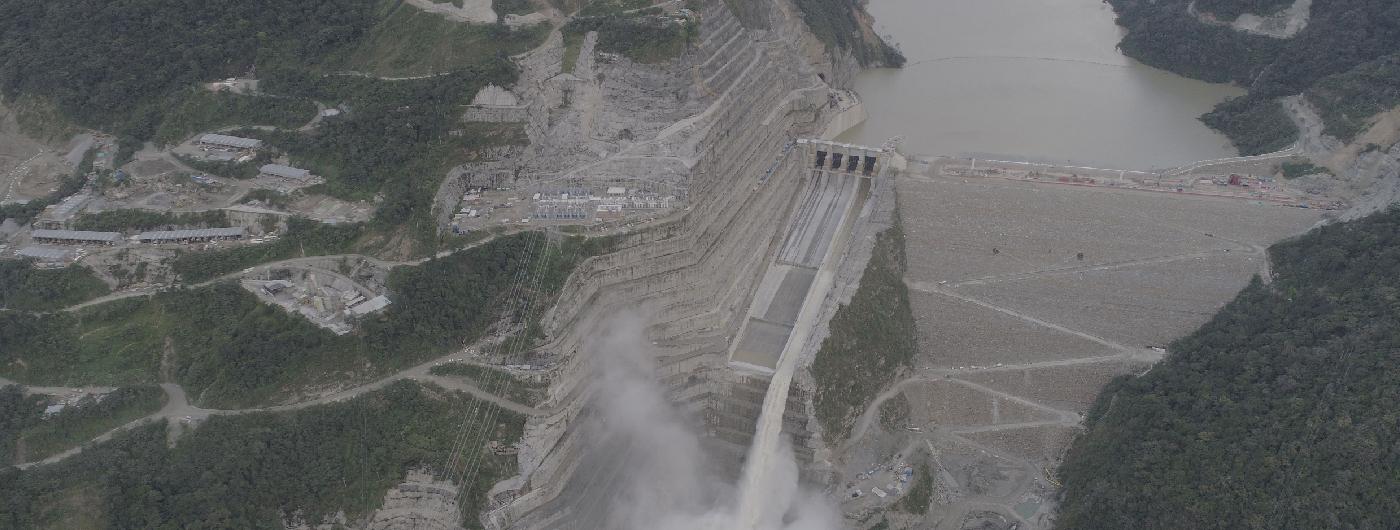 Hidroituango sería la hidroeléctrica más grande en la historia de Colombia. Foto: EPM.