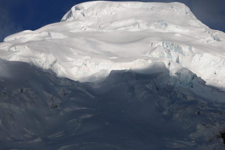 La zona nevada del Antisana. Foto: Inamhi.