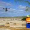 Por primera vez se utilizaron drones para la erradicación de roedores en Galápagos. Foto: Island Conservation
