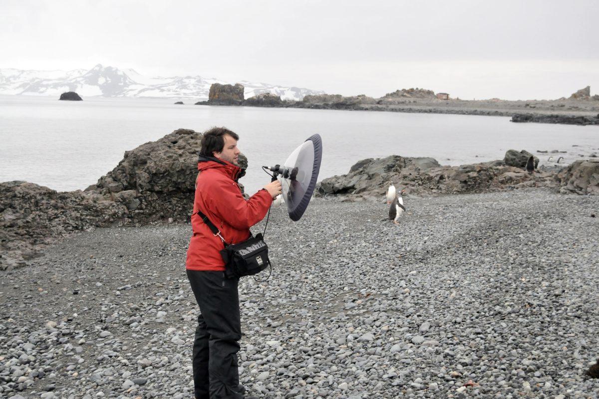 Juan Pablo Culasso en la expedición a la Antártida. Foto: Juan Pablo Culasso.