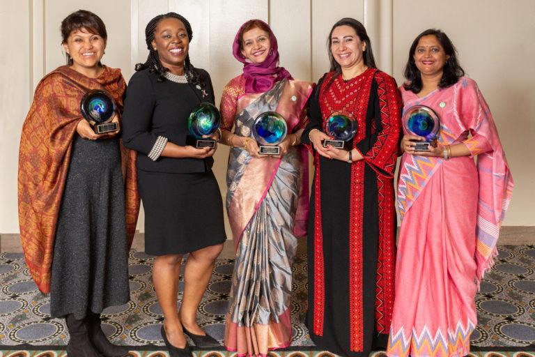 Narel Paniagua-Zambrana y las otras ganadoras del Premio de la Organización para las Mujeres en la Ciencia para el Mundo en Desarrollo 2019. Foto: Fundación Elsevier.
