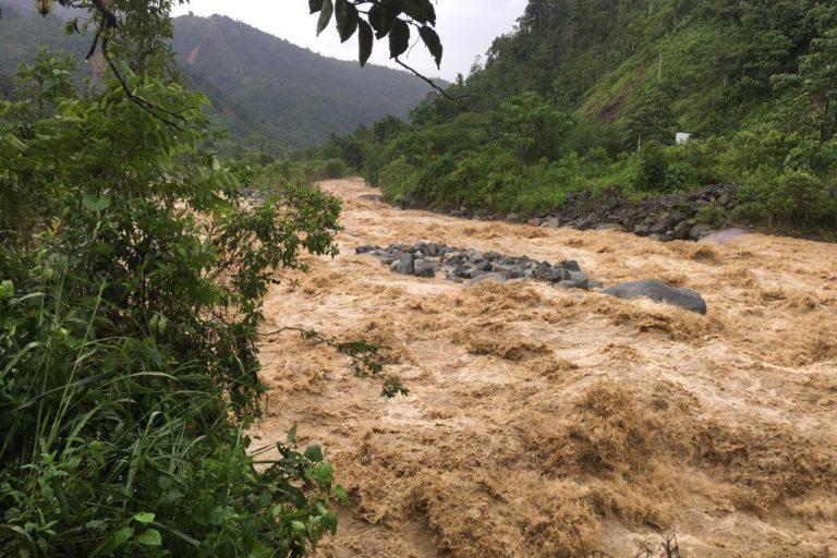 Río Upano en uno de los días de mayor turbiedad. Foto: Tirza Estrella / Facebook.