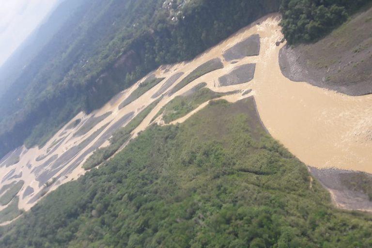 Vista aérea del río Upano. Foto: Tirza Estrella / Facebook.