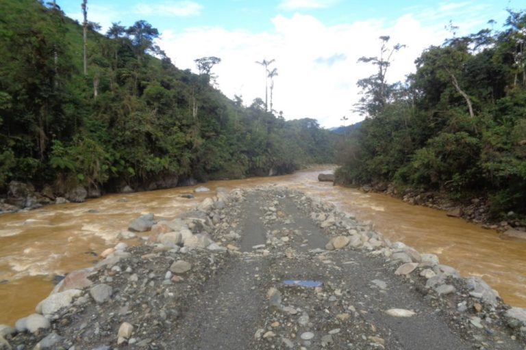 Río Upano turbio. Foto: Hidronormandía.