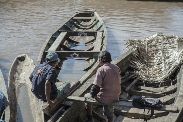 Las comunidades nativas han reclamado por los efectos que podría tener la hidrovía en su vida y su salud. Foto: DAR.