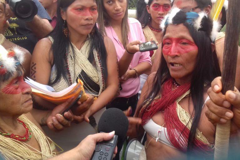 Los Waorani dicen que la consulta de 2012 fue engañosa. Foto: Amazon Frontlines.