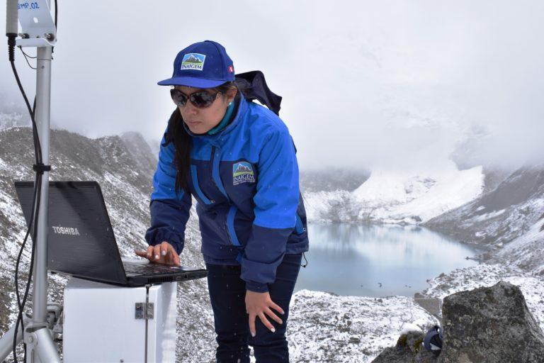 El Instituto Nacional de Investigación en Glaciares y Ecosistemas de Montaña ha instalado un sistema de monitoreo en Palcacocha. Foto: Inageim.