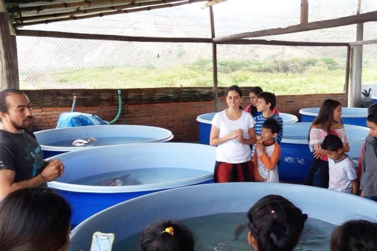 Actividades de educación en conservación. Foto: Centro de Rehabilitación de Fauna Marina del Parque Nacional Machalilla.