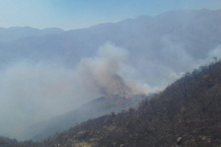 Incendio en la Sierra Nevada de Santa Marta. Foto: Parques Nacionales Naturales de Colombia.