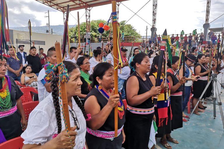Los indígenas del Putumayo piden protección de sus territorios. Foto: Robinsón López, coordinador de Derechos Humanos de la Opiac.