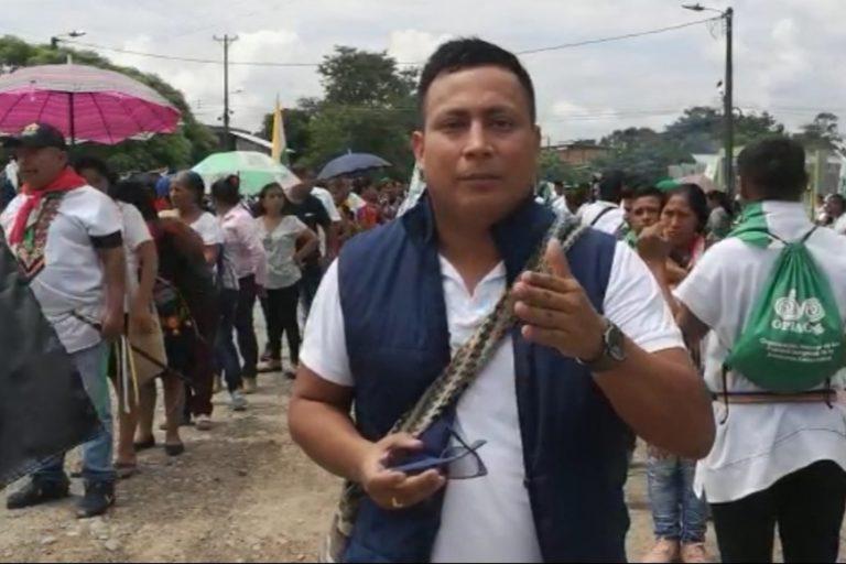 Robinsón López, coordinador de Derechos Humanos de la Opiac.