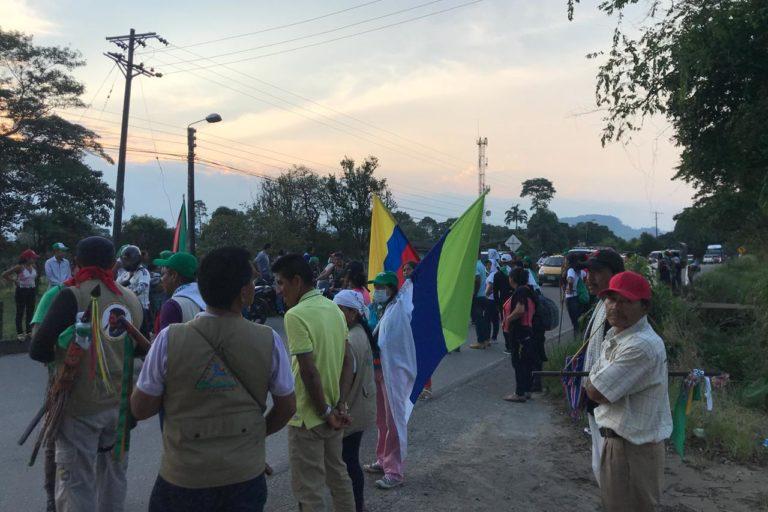 Los indígenas del Putumayo se han reunido con funcionarios del Gobierno el 10, 12 y 16 de abril. Foto: Robinson López, coordinador de Derechos Humanos de la Opiac.