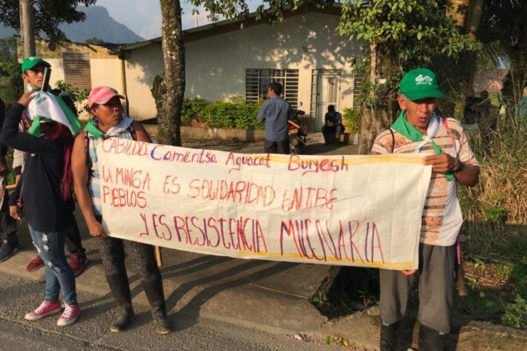 Los indígenas del Putumayo piden que les legalicen sus tierras. Foto: Robinson López, coordinador de Derechos Humanos de la Opiac.