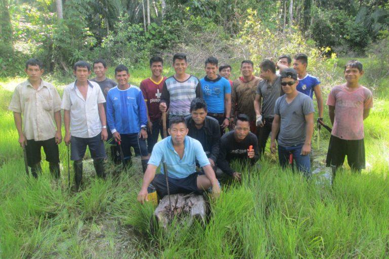 La comunidad nativa La Petrolera denunció la invasión de su territorio. Foto: Orpio.
