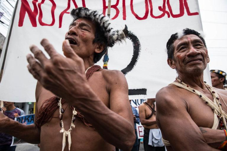 La nacionalidad Waorani de Pastaza se opone al bloque petrolero 22 en su territorio. Foto: Mitch Anderson / Amazon Frontlines.