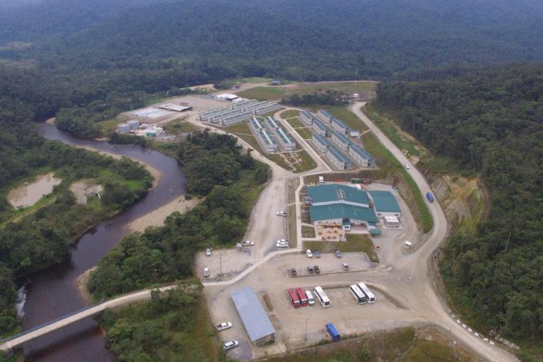 Proyecto minero Fruta del Norte en la Amazonía ecuatoriana. Foto: Fruta del Norte.